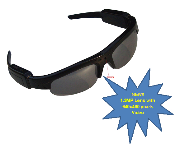 Secuvox™ Hands Free On-the-Go Hidden Video Recorder Sunglasses